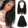 Brazilian Virgin Hair Head Band Deep Curly Wigs
