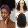 Brazilian Virgin Hair Head Band Kinky Curly Wigs
