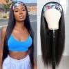 Brazilian Virgin Hair Straight Headband Scarf Wigs