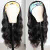 Virgin Brazilian Hair Body Wave Headband Scarf Wigs