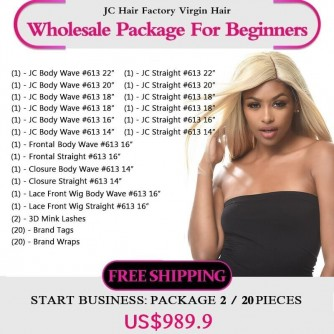 #613 Blonde Remy Hair Package II for Business Beginners