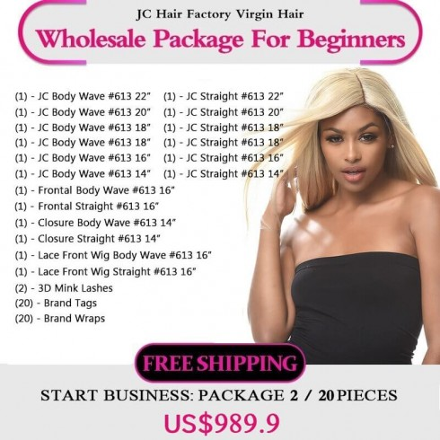 613 Blonde Remy Hair Package II for Business Beginners