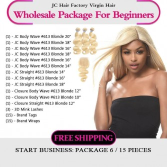 #613 Blonde Remy Hair Package I for Business Beginners