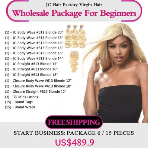 613 Blonde Remy Hair Package I for Business Beginners