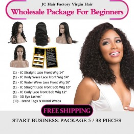 Virgin Hair Lace Front Wig Package VI For Business Beginners