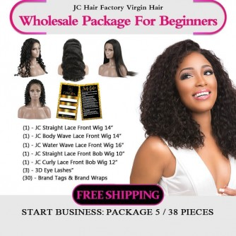 Virgin Hair 150 Density Lace Wig Package VI For Business Beginners