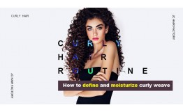 Curly Hair Routine | How To Define and Moisturize Curly Weave