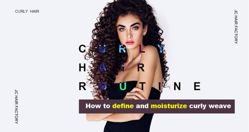 Curly Hair Routine How To Define And Moisturize Curly Weave
