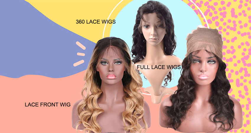 The Difference Between Full Lace Wigs, Lace Front Wigs And 360 Lace Frontal Wigs