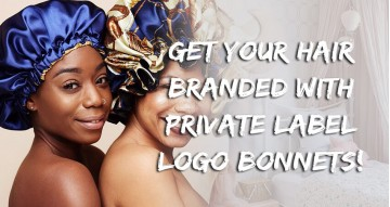 Get Your Hair Branded With Private Label Logo Bonnets!