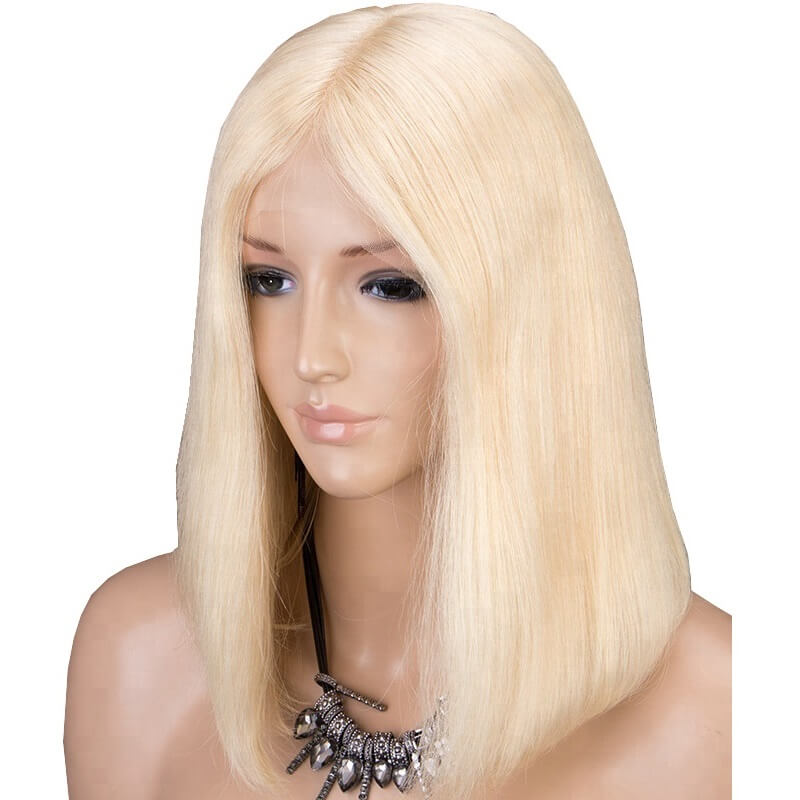 Brazilian Hair Straight 613 Blonde Full Lace Bob Wigs Flbbst