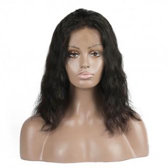 Brazilian Virgin Hair Wavy 360 Frontal Short Bob Cut Wigs
