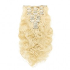 Blonde 613# Body Wave Clip In Hair Extensions