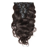 Body Wave 2# Dark Brown Clip In Hair Extensions