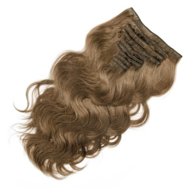 Body Wave 8 Light Chestnut Clip In Hair Extensions 9pcs Jcchlcb