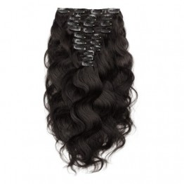 Body Wave 1B Natual Black Clip In Hair Extensions