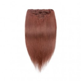 Dark Auburn 33# Straight Clip In Hair Extensions