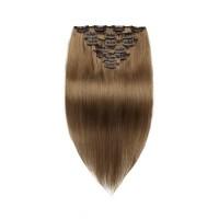 Light Chestnut 8# Straight Clip In Hair Extensions 9 PCS