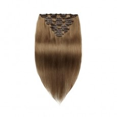 Light Chestnut 8# Straight Clip In Hair Extensions 9 PCS