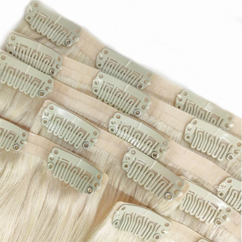 Premium Quality Remy Human Hair Seamless Clip In Hair Extensions