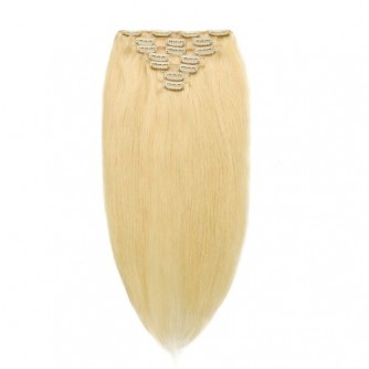 Straight 613# Blonde Clip In Hair Extensions