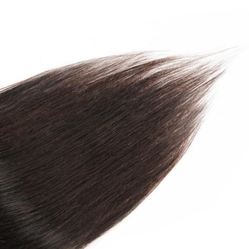 Straight 2 Clip In Dark Brown Hair Extensions