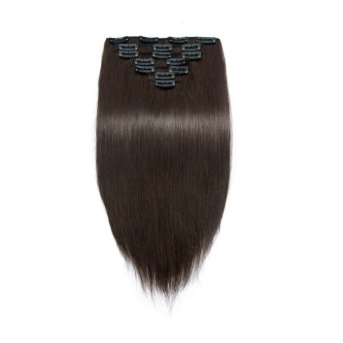 Straight 2# Clip In Dark Brown Hair Extensions