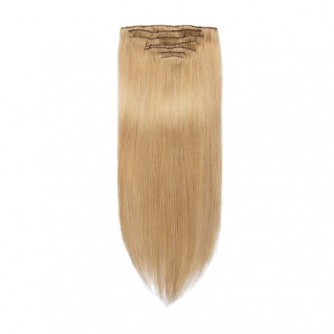 Straight 27# Clip In Strawberry Blonde Hair Extensions