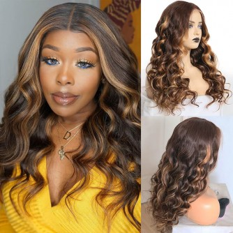 Mix Highlight Color 1b/#4/#27 Lace Front Wigs