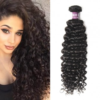 Peruvian Deep Curly Virgin Hair Weave