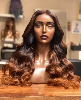 """""""Lydia""""  Ombre Body Wave Hair Lace Front Wigs"""