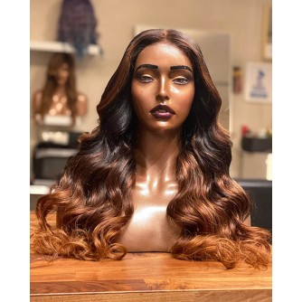 """Lydia""  Ombre Body Wave Hair Lace Front Wigs"