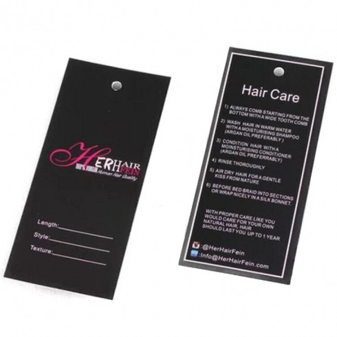 Custom Tags For Hair Extensions 100 PCS