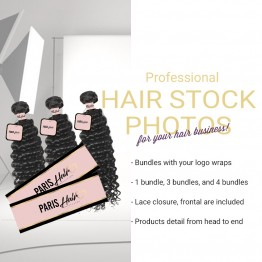 Photography Service For Virgin Hair With Your Logo