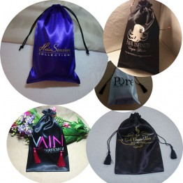 Custom Satin Bags For Hair Extensions 100 PCS
