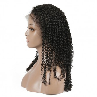 Brazilian Virgin Hair Kinky Curly Full Lace Wigs
