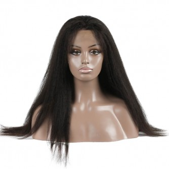 Virgin Brazilian Hair Kinky Straight Full Lace Wigs