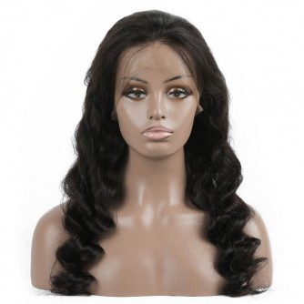 Peruvian Virgin Hair Full Lace Loose Wave Wigs