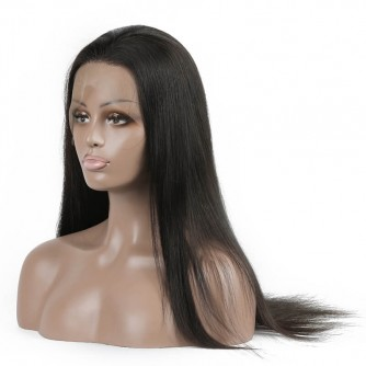 Silky Straight Virgin Malaysian Hair Full Lace Wigs