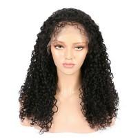 Curly Virgin Peruvian Hair Full Lace Wigs