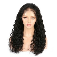 Peruvian Virgin Hair Full Lace Water Wave Wigs