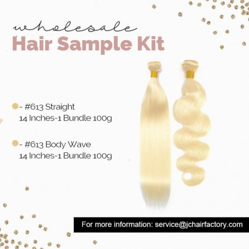 613 Blonde Remy Hair Sample Pack - 2 Patterns