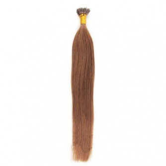 Straight 33# Dark Auburn Fusion I Tip Hair Extensions