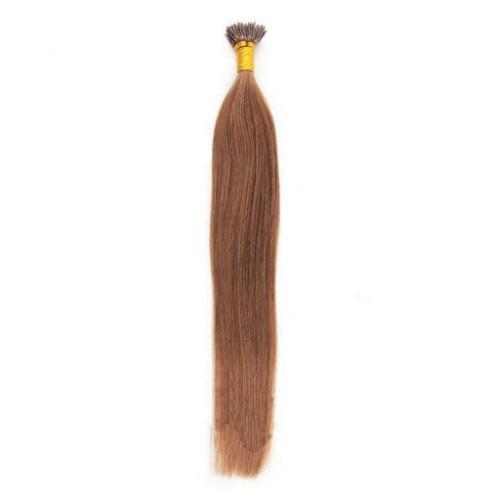 Straight 33# Dark Auburn Fusion I Tip Hair Extensions