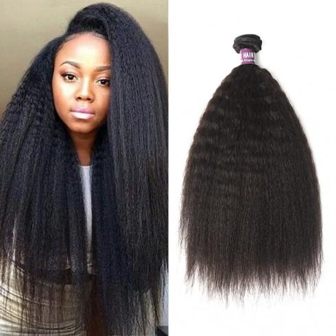 Peruvian Kinky Straight Virgin Hair Weave