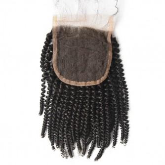 Peruvian Kinky Curly Lace Closure