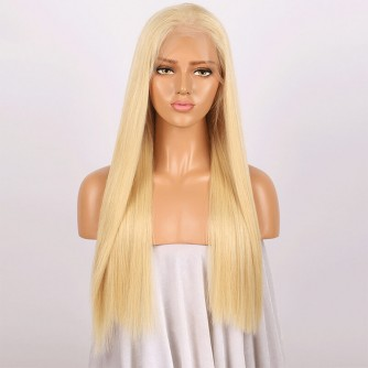 Brazilian Hair Straight 613# Blonde Full Lace Wigs