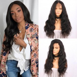 Body Wave Virgin Human Hair Lace Front Wigs