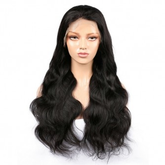 Virgin Indian Hair Body Wave Lace Front Wigs