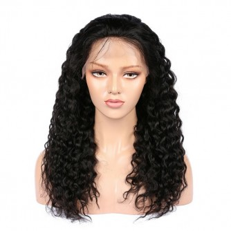 Virgin Brazilian Hair Deep Wave Lace Front Wigs